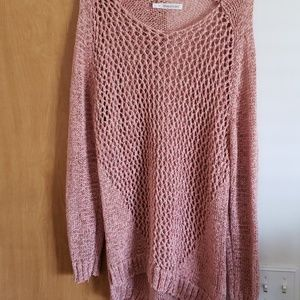 Maurice's pink sweater